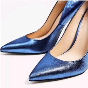 ZARA Metallic Leather Heels